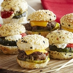 Mini Wagyu Burgers with Blue Cheese Goug